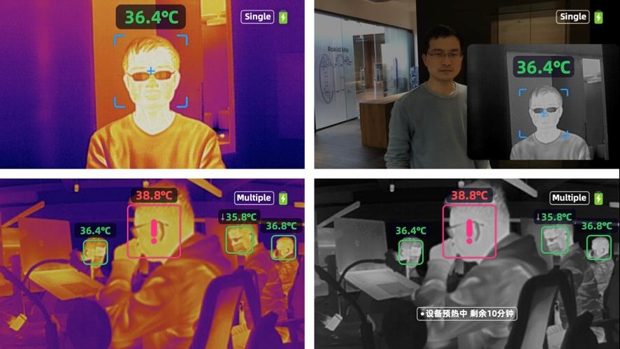 Óculos inteligentes com reconhecimento facial detectam casos de febre